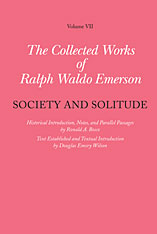 Cover: Collected Works of Ralph Waldo Emerson, Volume VII: Society and Solitude