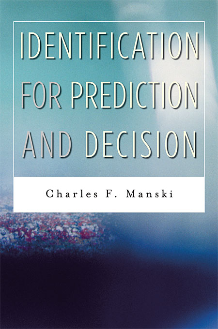 Cover: Identification for Prediction and Decision, from Harvard University Press