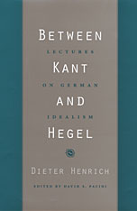 Cover: Between Kant and Hegel in PAPERBACK