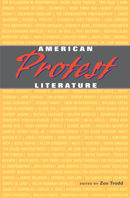 Cover: American Protest Literature, from Harvard University Press