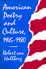 Cover: American Poetry and Culture, 1945–1980