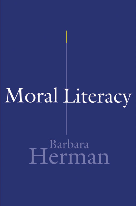 Cover: Moral Literacy, from Harvard University Press