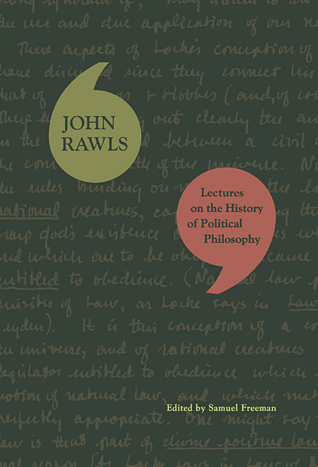 Cover: Lectures on the History of Political Philosophy, from Harvard University Press