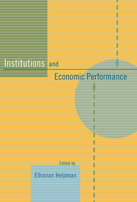 Cover: Institutions and Economic Performance, from Harvard University Press