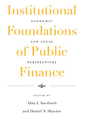 Cover: Institutional Foundations of Public Finance: Economic and Legal Perspectives