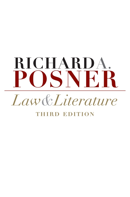 Cover: Law and Literature: Third Edition, from Harvard University Press