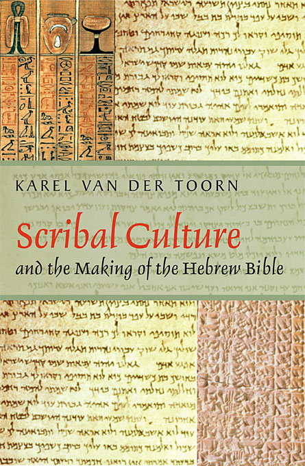 Cover: Scribal Culture and the Making of the Hebrew Bible, from Harvard University Press