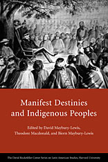 Cover: Manifest Destinies and Indigenous Peoples in PAPERBACK