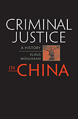 Cover: Criminal Justice in China in HARDCOVER
