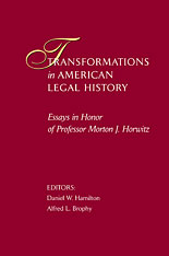 Cover: Transformations in American Legal History in HARDCOVER