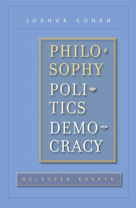 Cover: Philosophy, Politics, Democracy: Selected Essays, from Harvard University Press