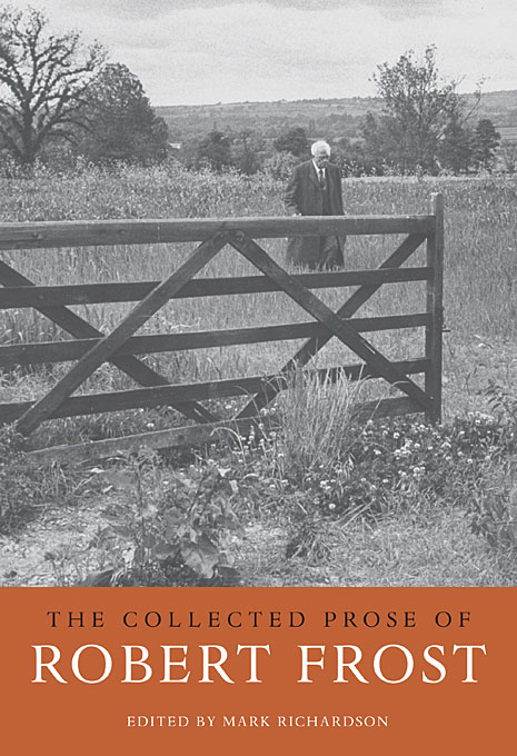 Cover: The Collected Prose of Robert Frost, from Harvard University Press