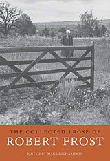Cover: The Collected Prose of Robert Frost in PAPERBACK