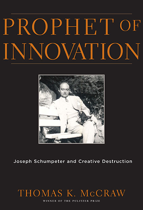Cover: Prophet of Innovation: Joseph Schumpeter and Creative Destruction, from Harvard University Press
