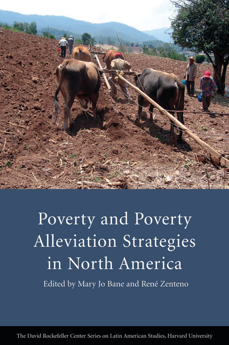 Cover: Poverty and Poverty Alleviation Strategies in North America, from Harvard University Press