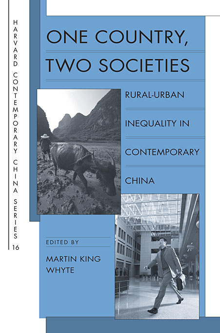 Cover: One Country, Two Societies: Rural-Urban Inequality in Contemporary China, from Harvard University Press