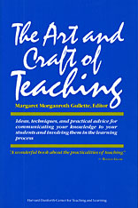 Cover: The Art and Craft of Teaching