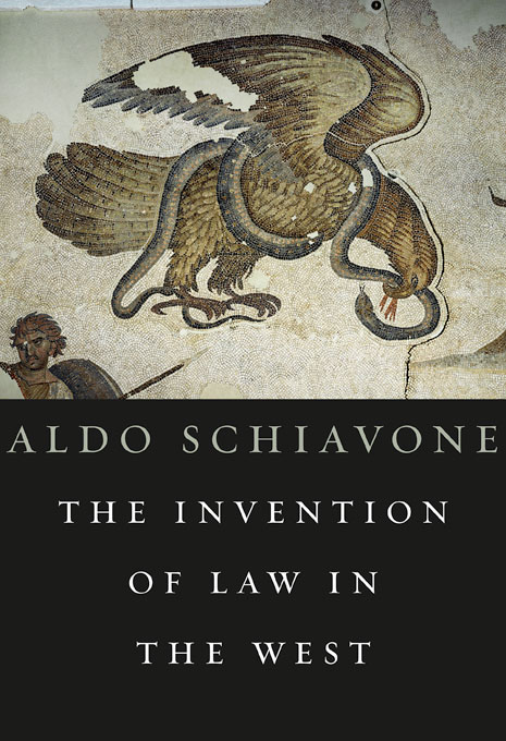 Cover: The Invention of Law in the West, from Harvard University Press