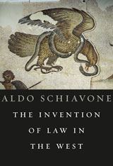 Cover: The Invention of Law in the West in HARDCOVER