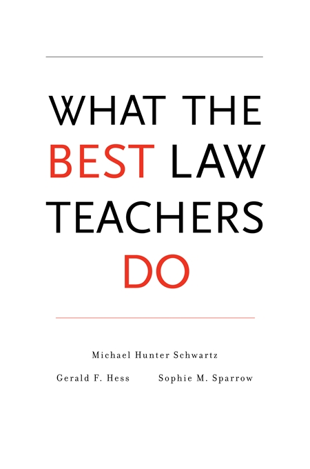 Cover: What the Best Law Teachers Do, from Harvard University Press