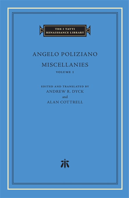 Cover: Miscellanies, Volume 1, from Harvard University Press