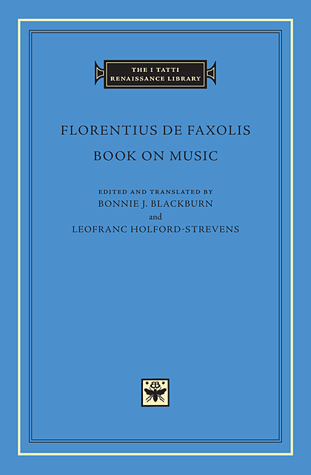 Cover: Book on Music, from Harvard University Press