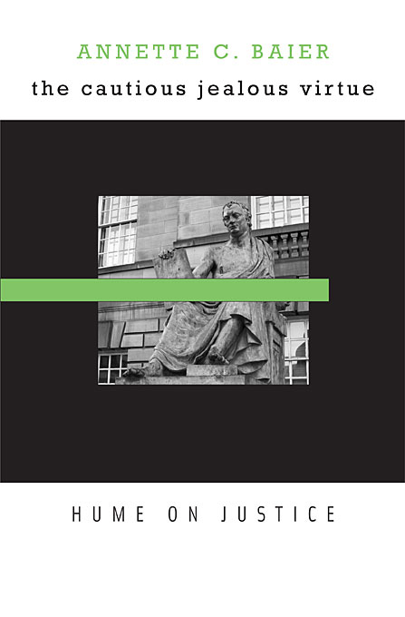 Cover: The Cautious Jealous Virtue: Hume on Justice, from Harvard University Press