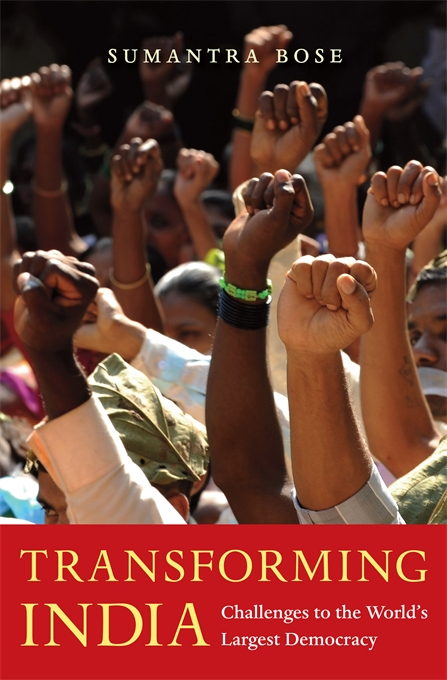 Cover: Transforming India: Challenges to the World's Largest Democracy, from Harvard University Press