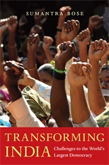 Cover: Transforming India: Challenges to the World's Largest Democracy, by Sumantra Bose, from Harvard University Press