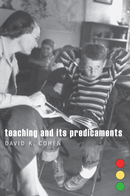 Cover: Teaching and Its Predicaments, from Harvard University Press