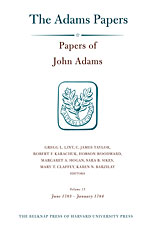 Cover: Papers of John Adams, Volume 15 in HARDCOVER