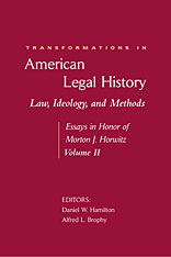 Cover: Transformations in American Legal History, II in HARDCOVER