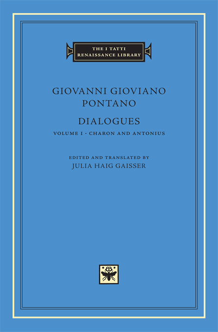 Cover: Dialogues, Volume 1: Charon and Antonius, from Harvard University Press