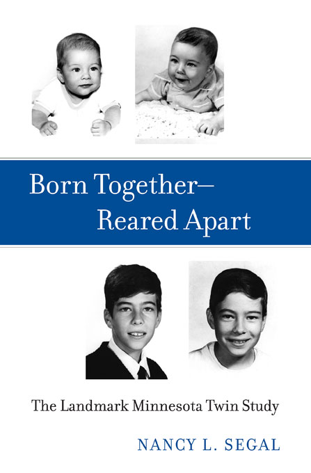 Cover: Born Together—Reared Apart: The Landmark Minnesota Twin Study, from Harvard University Press