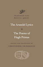Cover: The Arundel Lyrics. The Poems of Hugh Primas in HARDCOVER
