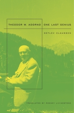 Cover: Theodor W. Adorno: One Last Genius