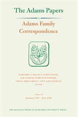 Cover: Adams Family Correspondence, Volume 10: January 1794 – June 1795