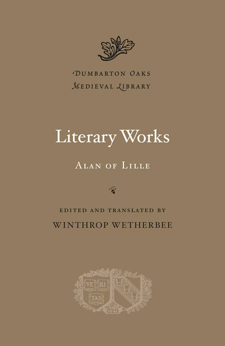 Cover: Literary Works, from Harvard University Press
