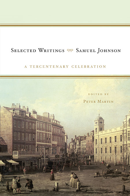 Cover: Samuel Johnson: Selected Writings: A Tercentenary Celebration, from Harvard University Press