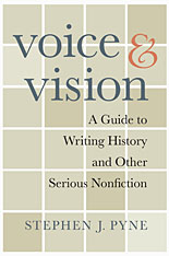 Image of cover to, Voice & Vision: A Guide to Writing History and Other Serious Nonfiction, that links out to eBook resource.