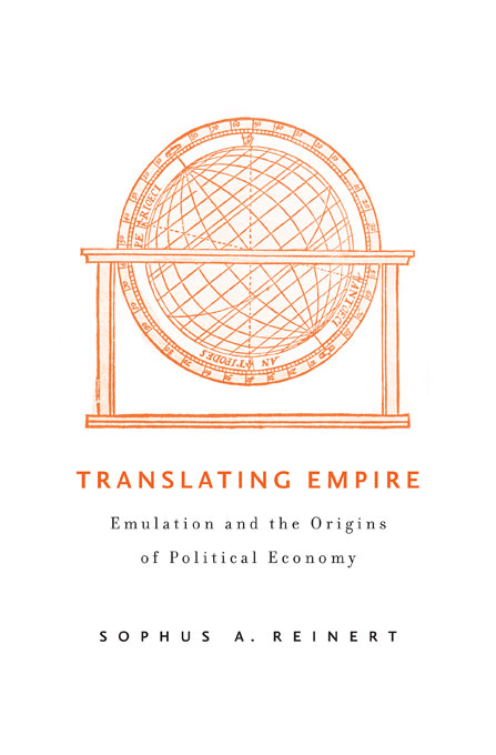 Cover: Translating Empire: Emulation and the Origins of Political Economy, from Harvard University Press
