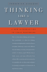 Cover: Thinking Like a Lawyer: A New Introduction to Legal Reasoning