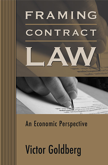 Cover: Framing Contract Law: An Economic Perspective, from Harvard University Press