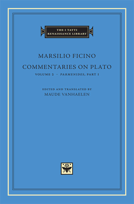 Cover: Commentaries on Plato, Volume 2: <i>Parmenides</i>, Part I, from Harvard University Press