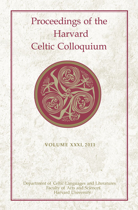 Cover: Proceedings of the Harvard Celtic Colloquium, 31: 2011, from Harvard University Press