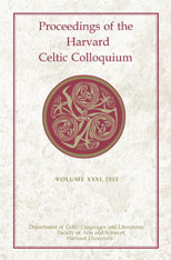 Cover: Proceedings of the Harvard Celtic Colloquium, 31: 2011