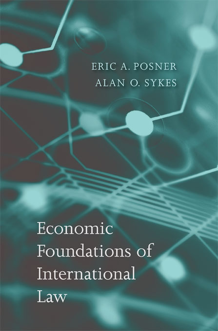 Cover: Economic Foundations of International Law, from Harvard University Press
