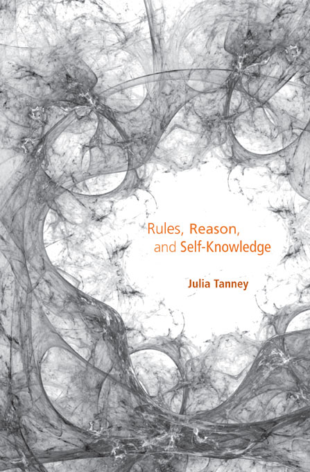Cover: Rules, Reason, and Self-Knowledge, from Harvard University Press