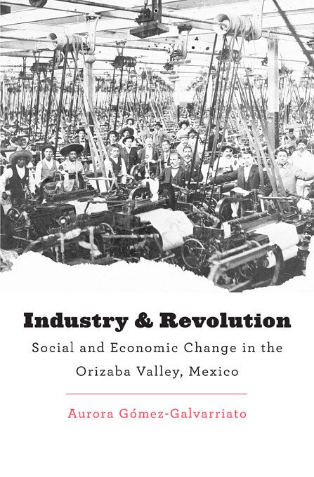 Cover: Industry and Revolution: Social and Economic Change in the Orizaba Valley, Mexico, from Harvard University Press