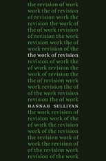 Cover: The Work of Revision